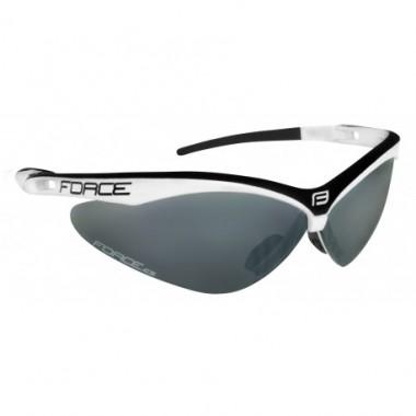 Ochelari ciclism FORCE Air alb/negru / lentila negru laser