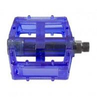 Pedale M-WAVE Polycarbonat - albastru transparent