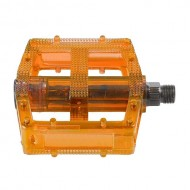 Pedale M-WAVE Polycarbonat - portocaliu transparent