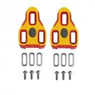 Plăcuţe pedale SPD EXUSTAR E-Arc - galben/roşu