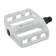 Pedale BMX FORCE Hot - aluminiu - albe