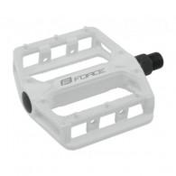 Pedale BMX FORCE Hot - aluminiu - albe