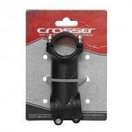 Pipă ghidon CROSSER D507A 1.1/8-31.8/80 mm - 7º negru/gri