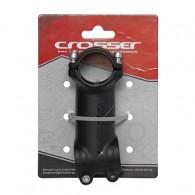 Pipă ghidon CROSSER D507A 1.1/8-31.8/70 mm - 7º negru/gri