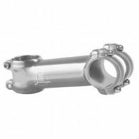 Pipă ghidon M-WAVE 3D 1.1/8-31.8/90 mm - 7º argintiu