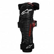 Protecţii genunchi ALPINESTARS Moab negru/roşu - mărimea L-XL