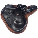 Șa CYCLONE Confort Elastomer maro SA13018