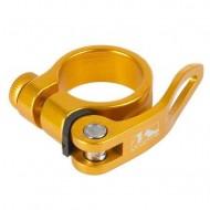 Colier tijă șa M-WAVE auriu QR 31.8 mm