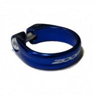 Colier tijă șa ZOOM AT-161 albastru 31.8 mm