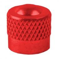 Căpăcel ventil tip auto M-WAVE aluminiu roşu