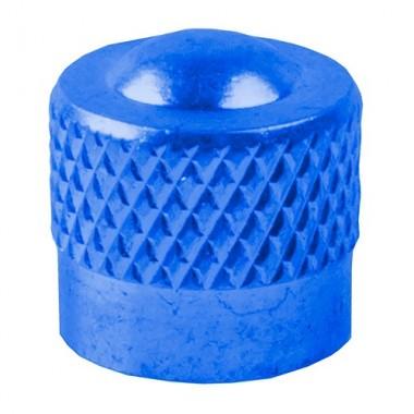 Căpăcel ventil tip auto M-WAVE aluminiu albastru