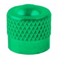 Căpăcel ventil tip auto M-WAVE aluminiu verde
